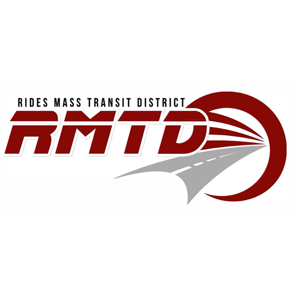 Rides Mass Transit District - RMTD logo, color